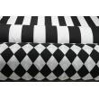 Cotton 100% navy stripes 8cm
