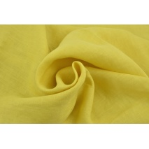 100% plain linen in a mustard color, softened 155g/m2