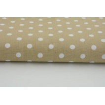 Cotton 100% polka dots 7mm on a beige background