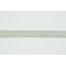 Bawełniane frędzle 15mm jasnoszare