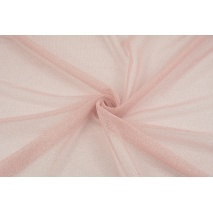 Tulle with lurex powder pink