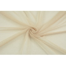 Tulle with lurex beige