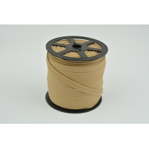Cotton edging ribbon light caramel