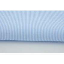 Bawełna 100% biało-błękitne paski 2x1mm