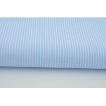 Cotton 100% white stripes on a light blue background 2mm