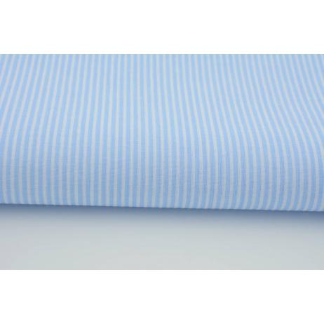 Bawełna 100% paski biało błękitne 2mm