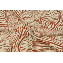 Wiskoza z lnem, rude liście na naturalnym tle