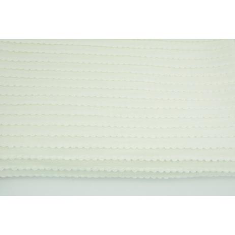 Cotton 100% knitwear with frill ecru