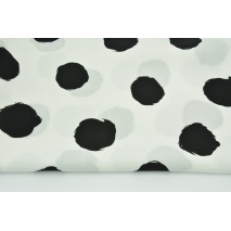 Viscose 100% black big dots