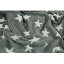 Fleece in white stars on a grey background