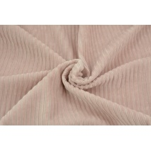 Knitwear, wide corduroy powder pink 300 g/m2