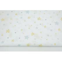 Bawełna 100% niebieskie gwiazdki, kropelki DC