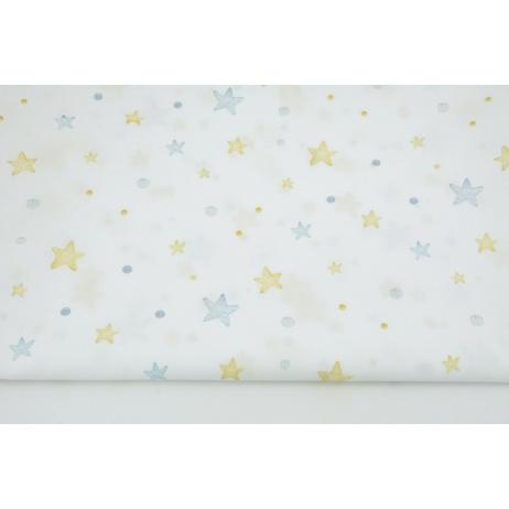 Cotton 100% blue stars, droplets DP