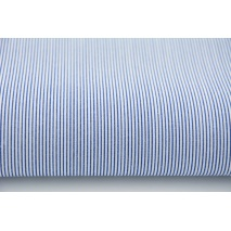 Cotton 100% small navy stripes