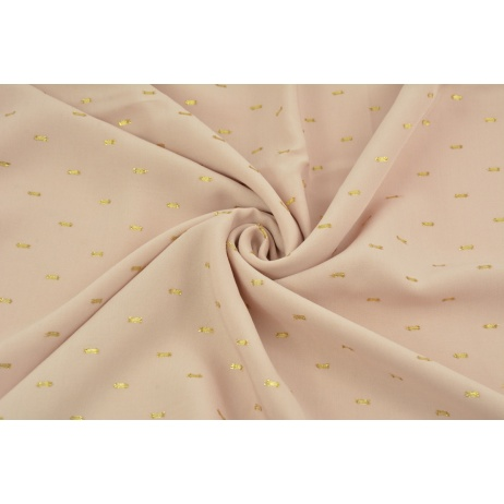 Viscose embroidered with golden lines, powder pink