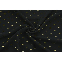 Viscose embroidered with golden lines, black