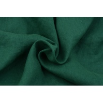 100% plain linen in a malachite green color, softened 155g/m2