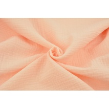 Double gauze 100% cotton plain peach