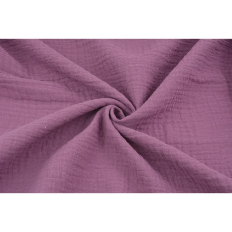 Double gauze 100% cotton plain purple