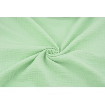 Double gauze 100% cotton plain mint 2
