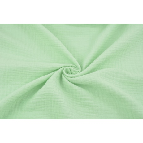 Double gauze 100% cotton plain mint 2