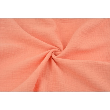 Double gauze 100% cotton plain salmon