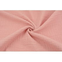 Double gauze 100% cotton plain quartz pink
