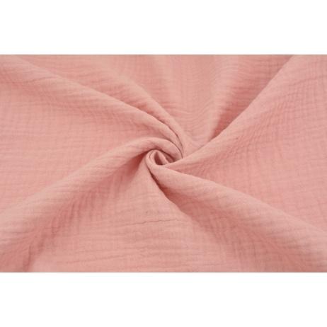 Double gauze 100% cotton plain quartz pink