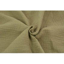 Double gauze 100% cotton plain dark beige