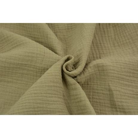 Double gauze 100% cotton plain dark beige