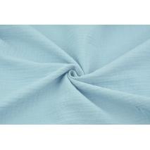 Double gauze 100% cotton plain blue