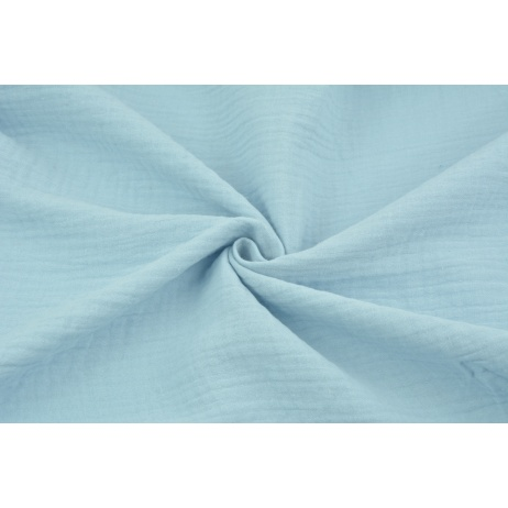 Double gauze 100% cotton plain blue