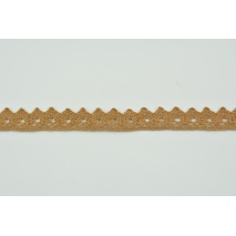 Koronka bawełniana 15mm, ciemny karmel