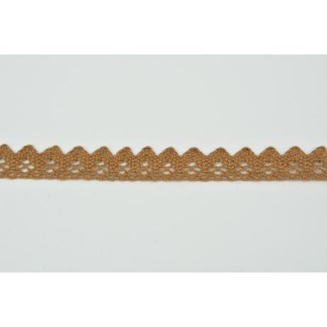 Cotton lace 15mm, dark caramel 2