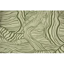 Wiskoza z lnem, zielone liście na naturalnym tle