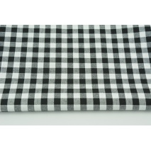 Cotton 100% double-sided black vichy check 1cm