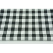 Cotton 100% double-sided black vichy check 2cm