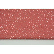 Cotton 100% organic, small spots on a brick red background, poplin