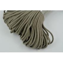 Sznurek bawełniany 6mm ciemny beż (miękki)