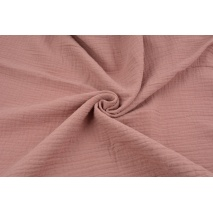 Double gauze 100% cotton plain dirty pink (2)