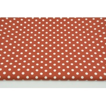 Cotton 100% white dots 7mm on a ginger background, poplin