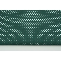 Cotton 100% white dots 2mm on a malachite green background, poplin