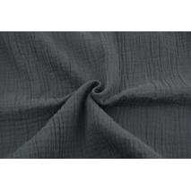 Double gauze 100% cotton plain light steel