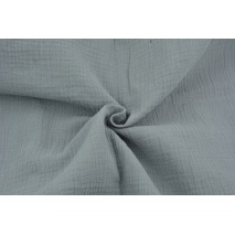 Double gauze 100% cotton plain medium gray