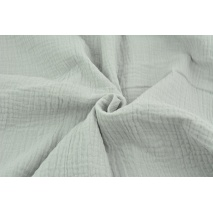 Double gauze 100% cotton plain very light gray