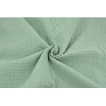 Double gauze 100% cotton plain fresh sage
