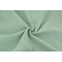 Double gauze 100% cotton plain fresh sage