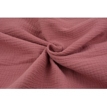 Double gauze 100% cotton plain marsala pink