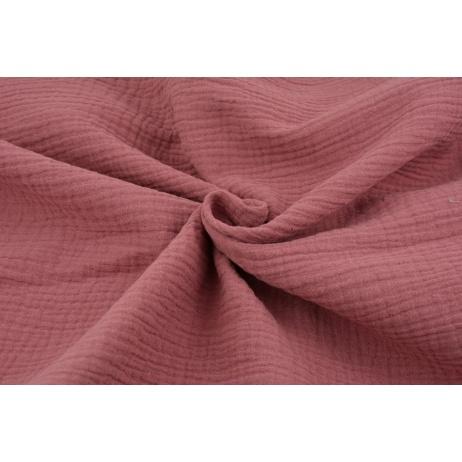 Double gauze 100% cotton plain marsala pink