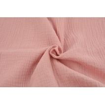 Double gauze 100% cotton plain quartz pink (darker)